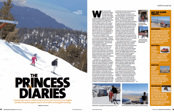 California Skiing Article in the Daily Mail Ski Magazine