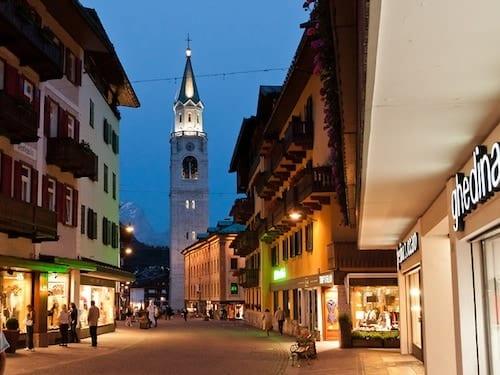 Beautiful Town of Cortina d'Ampezzo