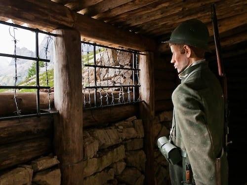 World War 1 Soldier in Cortina d'Ampezzo