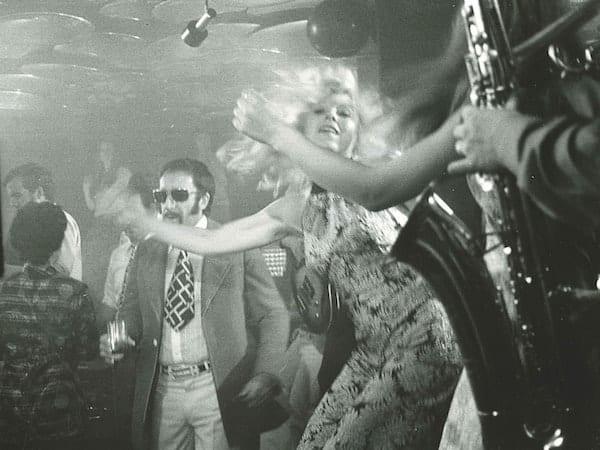 Peter Sellers on the GreenGo dance floor, Gstaad