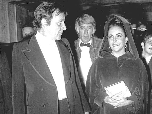 Elizabeth Taylor and Richard Burton at the Palace Hotel, Gstaad