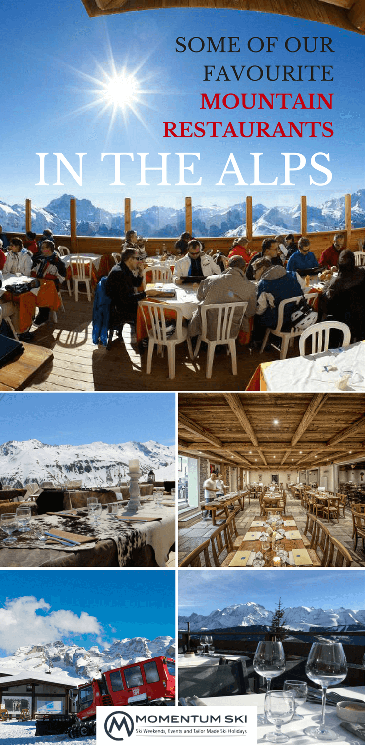 Lunch or dinner on the slopes should be just as enjoyable as the skiing... Here are our favourite mountain restaurants to enjoy a bite at high altitude.